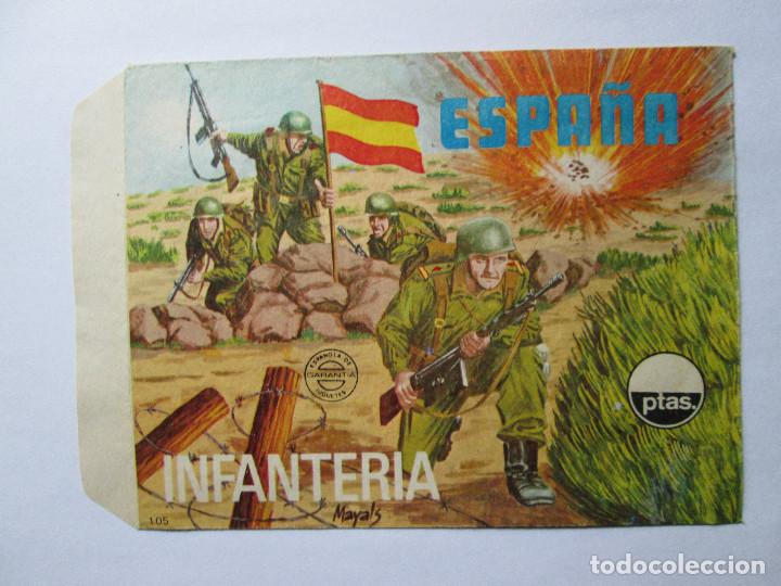 SOBRE VACIO MONTAPLEX - ESPAÑA - INFANTERIA Nº 105 (Juguetes - Figuras de Goma y Pvc - Montaplex)