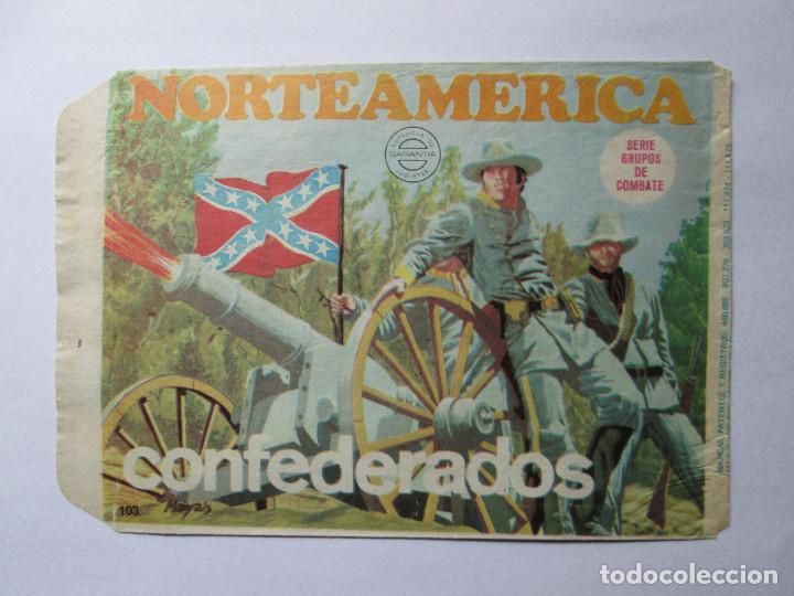 SOBRE VACIO MONTAPLEX - NORTEAMERICA - CONFEDERADOS (Juguetes - Figuras de Goma y Pvc - Montaplex)
