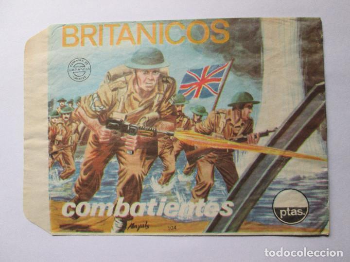 SOBRE VACIO MONTAPLEX - BRITANICOS - COMBATIENTES Nº 104 (Juguetes - Figuras de Goma y Pvc - Montaplex)
