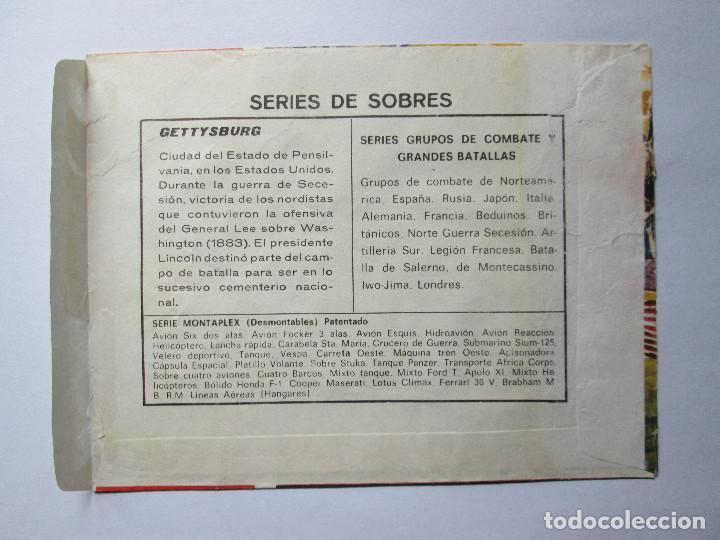 Figuras de Goma y PVC: SOBRE VACIO MONTAPLEX - GETTISBURG - GRANDES BATALLAS - YANKEES CONFEDERADOS - Foto 2 - 240470690