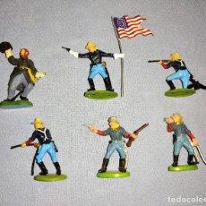 Figurines en Caoutchouc et PVC: 6 FIGURAS DIFERENTES BRITAINS 7º DE CABALLERIA EN EXCELENTE ESTADO. Lote 240505930