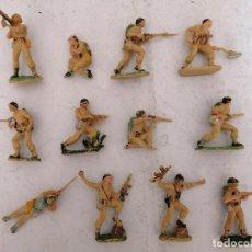 Figuras de Goma y PVC: PECH HERMANOS ORIGINAL AÑOS 60. INFANTERÍA US ARMY. DIA D HORA H. LOTE COMPLETO.. Lote 240603005