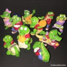Figuras Kinder: COLECCIÓN KINDER SORPRESA COMPLETA COCODRILOS 1995 FERRERO. Lote 240618460