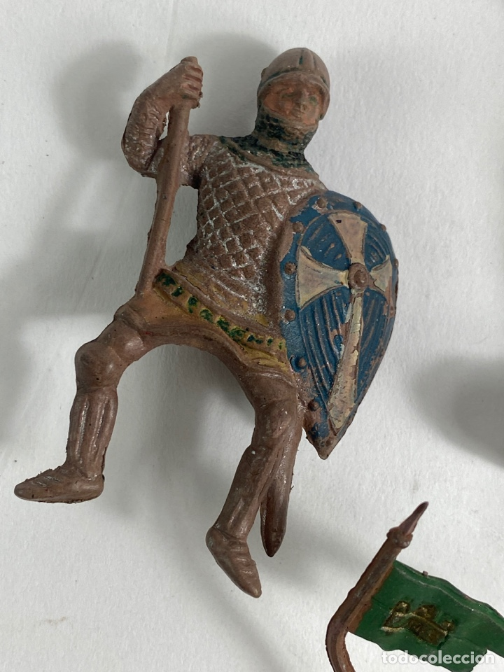 Figuras de Goma y PVC: LOTE DE 5 FIGURAS MEDIEVALES DE GOMA. AÑOS 50. 79. - Foto 2 - 240648755