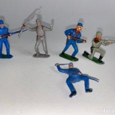 Figuras de Goma y PVC: LOTE DE 5 FIGURAS JECSAN SOLDADOS SERIE DOS BANDERAS. AÑOS 60. 80.. Lote 240649800