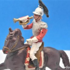 Figuras de Borracha e PVC: ANTIGUAS FIGURAS EN PLÁSTICO DE TEIXIDO. SERIE CORACEROS DEL REY. 60 MM. Lote 240869920