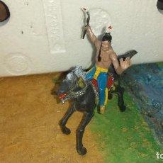Figuras de Goma y PVC: INDIO Y CABALLO DE JECSAN. Lote 241056555