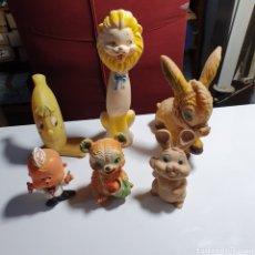 Figuras de Goma y PVC: LOTE DE 6 MUÑECOS DE GOMA ALGUNOS PROMOCIONALES, VINTAGE.. Lote 241120355