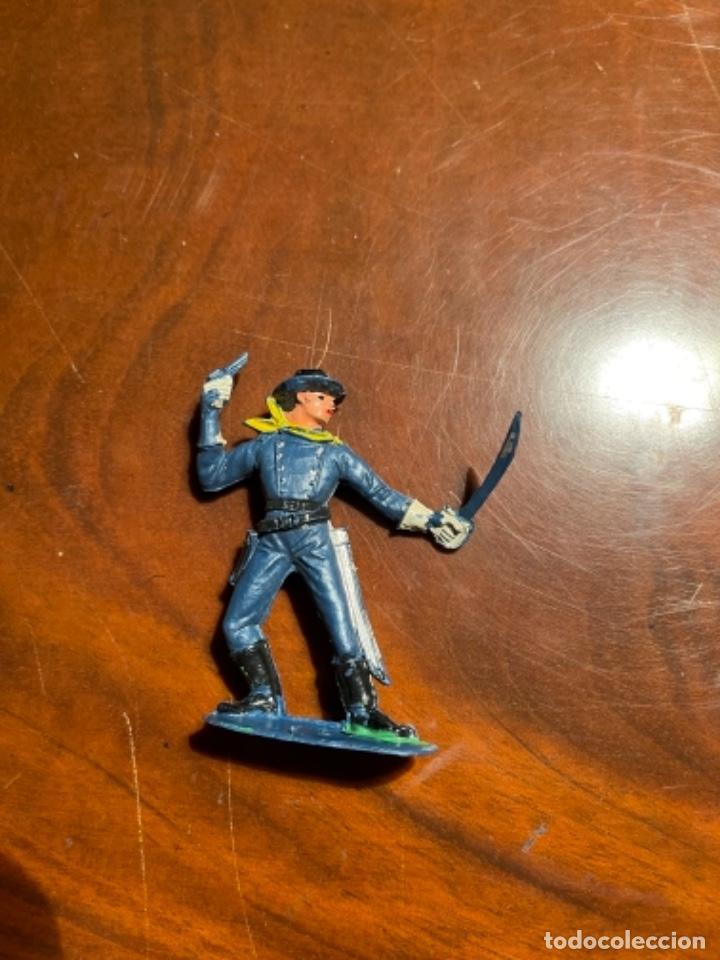Figuras de Goma y PVC: Federal Yankee Séptimo Caballería, plástico duro Pech jecsan u otro original años 60 70 - Foto 2 - 241208180