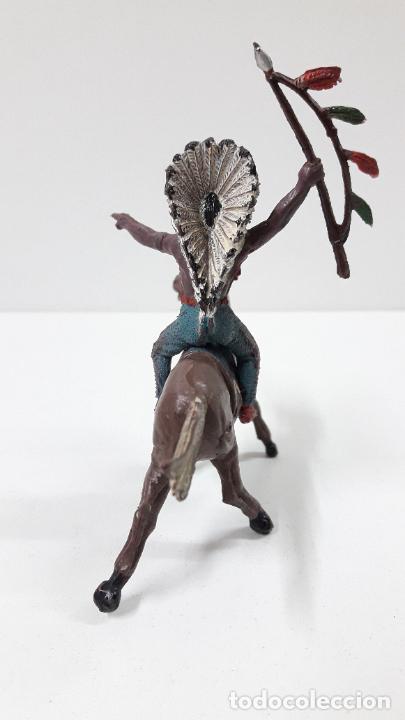 Figuras de Goma y PVC: JEFE INDIO PARA CABALLO . REALIZADO POR TEIXIDO . ORIGINAL AÑOS 60 . CABALLO NO INCLUIDO - Foto 4 - 241212875