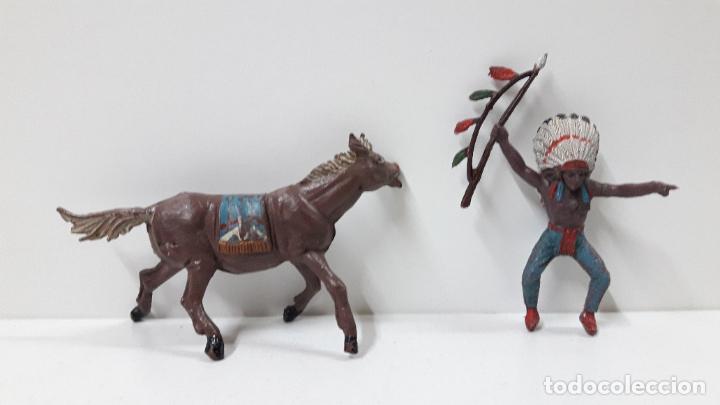 Figuras de Goma y PVC: JEFE INDIO PARA CABALLO . REALIZADO POR TEIXIDO . ORIGINAL AÑOS 60 . CABALLO NO INCLUIDO - Foto 7 - 241212875