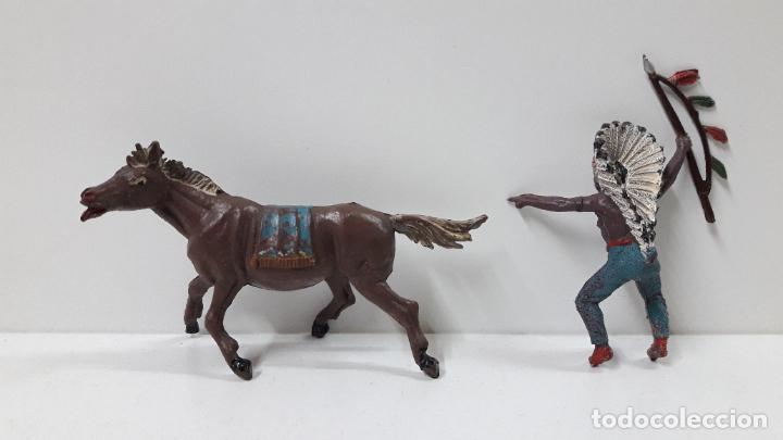 Figuras de Goma y PVC: JEFE INDIO PARA CABALLO . REALIZADO POR TEIXIDO . ORIGINAL AÑOS 60 . CABALLO NO INCLUIDO - Foto 8 - 241212875