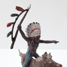 Figuras de Goma y PVC: JEFE INDIO PARA CABALLO . REALIZADO POR TEIXIDO . ORIGINAL AÑOS 60 . CABALLO NO INCLUIDO. Lote 241212875