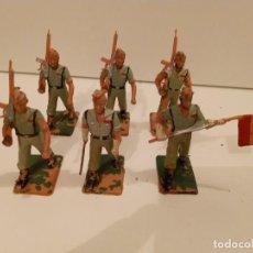 Figuras de Goma y PVC: DESFILE DE 6 LEGIONARIOS DE 7 CM. Lote 241475480