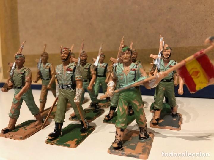 Figuras de Goma y PVC: Legionarios REAMSA. Lote de 11 figuras. Oficial. Abanderado y soldados con y sin barba. - Foto 3 - 241525160