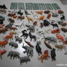 Figuras de Goma y PVC: LOTE DE JECSAN ?? JAULA Y ANIMALES DE ZOO O CIRCO. Lote 241734230