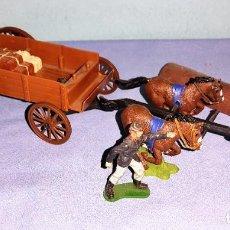 Figurines en Caoutchouc et PVC: LOTE DE CARRETA Y SOLDADO NORDISTA TIMPO TOYS Y BRITAINS. Lote 241872945