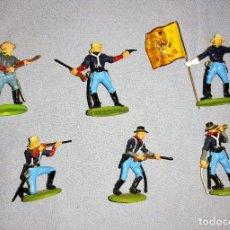 Figuras de Borracha e PVC: 6 FIGURAS DIFERENTES BRITAINS 7º DE CABALLERIA EN EXCELENTE ESTADO. Lote 241874435