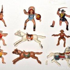 Figuras de Goma y PVC: LOTE DE FIGURAS ROTAS DE PLÁSTICO DE LA MARCA REAMSA, 1970,S - LOS CABALLOS DE COWBOYS ESTÁN BIEN.. Lote 241904150