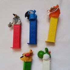 Figuras de Borracha e PVC: 5 DISPENSADORES PEZ VARIOS. Lote 241914640