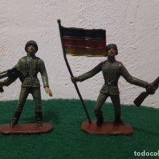 Figuras de Goma y PVC: SOLDADOS DE PLASTICO ALEMANES 2 GUERRA MUNDIAL BUEN ESTADO. Lote 241915550