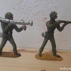 Figuras de Goma y PVC: SOLDADOS DE PLASTICO AMERICANOS EN BUEN ESTADO. Lote 241916225