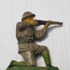 Figuras de Goma y PVC: FIGURA SOLDADO JAPONES DEL RÍO KWAI EN GOMA DE JECSAN. Lote 241949760
