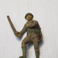 Figuras de Goma y PVC: FIGURA SOLDADO JAPONES DEL RÍO KWAI EN GOMA DE JECSAN. Lote 241950605