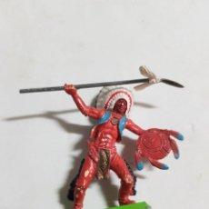 Figuras de Goma y PVC: FIGURA SOLDADO INDIO BRITAINS LTD ESTADO MUY BUENO COMO SE VE EN LA FOTO MAS ARTICULOS. Lote 242035945