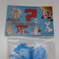 Figuras de Goma y PVC: ASTERIX Y OBELIX BOLSA CON 7 FIGURAS Y MARMITA UDERZO CARTON DIBUJOS GALOS ROMANOS ROMA DUNKIN. Lote 242081045