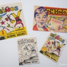Figuras de Borracha e PVC: LOTE DE SOBRES MONTAPLEX SERIE NIÑOS VACÍOS. Lote 242105825
