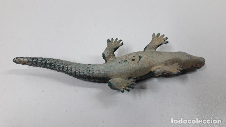 Figuras de Goma y PVC: COCODRILO . ATRIBUIDO A ARCLA . ORIGINAL AÑOS 50 EN GOMA - Foto 7 - 242131435