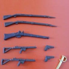 Figuras de Borracha e PVC: LOTE DE ARMAS PARA MUÑECOS 90S.SIN USO.. Lote 242945525