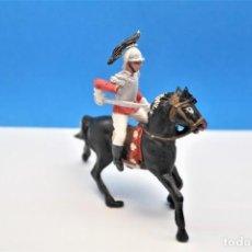 Figuras de Goma y PVC: ANTIGUAS FIGURAS EN PLÁSTICO DE TEIXIDO. SERIE CORACEROS DEL REY. 60 MM. Lote 242976810