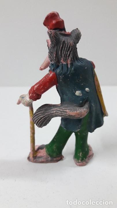 Figuras de Goma y PVC: EL ZORRO HONRADO JUAN . REALIZADO POR PECH . SERIE PINOCHO - WALT DISNEY . ORIGINAL AÑOS 50 EN GOMA - Foto 2 - 242980060