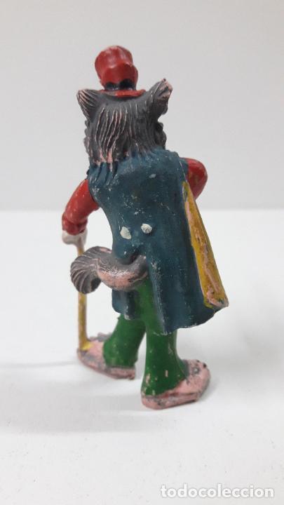 Figuras de Goma y PVC: EL ZORRO HONRADO JUAN . REALIZADO POR PECH . SERIE PINOCHO - WALT DISNEY . ORIGINAL AÑOS 50 EN GOMA - Foto 5 - 242980060