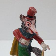 Figuras de Goma y PVC: EL ZORRO HONRADO JUAN . REALIZADO POR PECH . SERIE PINOCHO - WALT DISNEY . ORIGINAL AÑOS 50 EN GOMA. Lote 242980060