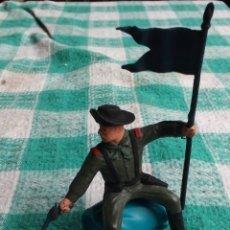 Figuras de Goma y PVC: SOLDADO ABANDERADO A CABALLO 7º CAV. - REAMSA - AÑOS 1970-80. Lote 243169710