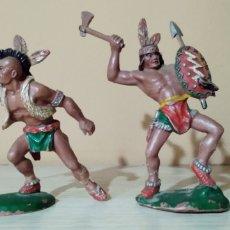 Figuras de Goma y PVC: INDIOS LAFREDO AÑOS 60. Lote 243285980