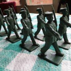 Figuras de Goma y PVC: GUARDIA CIVIL EN DESFILE - 8 FIGURAS - REAMSA. Lote 243386585