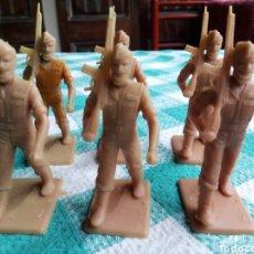 Figuras de Goma y PVC: LEGIÓN ESPAÑOLA - 6 SOLDADOS BARBUDOS EN DESFILE - REAMSA. Lote 243402870