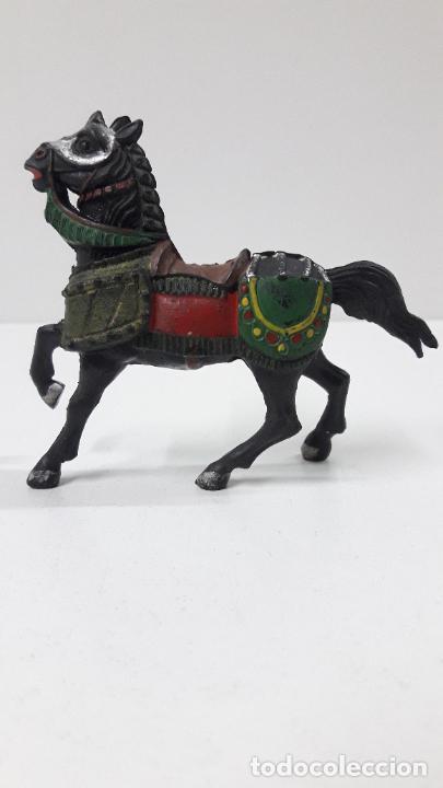 Figuras de Goma y PVC: CABALLO MEDIEVAL . REALIZADO POR REAMSA . SERIE CRUZADOS . AÑOS 50 EN GOMA - Foto 6 - 243455740