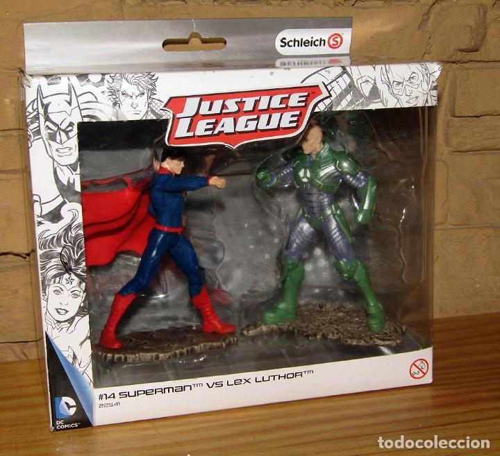 SUPERMAN VS LEX LUTHOR - JUSTICE LEAGUE - SCHLEICH - FIGURAS NUEVAS A ESTRENAR Y EN SU CAJA ORIGINAL (Juguetes - Figuras de Goma y Pvc - Schleich)