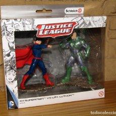 Figuras de Goma y PVC: SUPERMAN VS LEX LUTHOR - JUSTICE LEAGUE - SCHLEICH - FIGURAS NUEVAS A ESTRENAR Y EN SU CAJA ORIGINAL. Lote 243517480