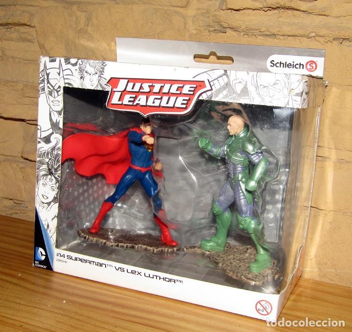 Figuras de Goma y PVC: SUPERMAN VS LEX LUTHOR - JUSTICE LEAGUE - SCHLEICH - FIGURAS NUEVAS A ESTRENAR Y EN SU CAJA ORIGINAL - Foto 2 - 243517480