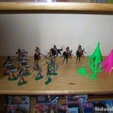 Figuras de Goma y PVC: 16 FIGURAS INDIOS DE COMANSI Y 3 TIPIS.. Lote 243530300