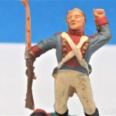 Figurines en Caoutchouc et PVC: ANTIGUA FIGURA EN PLÁSTICO DE REAMSA. SOLDADO DE LA GUERRA DE LA INDEPENDENCIA. REF PAT - 234. LEER. Lote 243567975