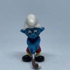 Figuras de Goma y PVC: PITUFO JUGANDO AL GOLF- SCHLEICH - PEYO. Lote 243654295