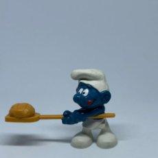 Figuras de Goma y PVC: PITUF0 PANADERO - PAN RECTANGULAR SCHLEICH - PEYO. Lote 243656675