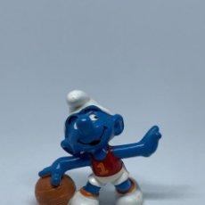 Figuras de Goma y PVC: PITUF0 BALONCESTO - CAMISETA N. 1 - SCHLEICH - PEYO. Lote 243659615